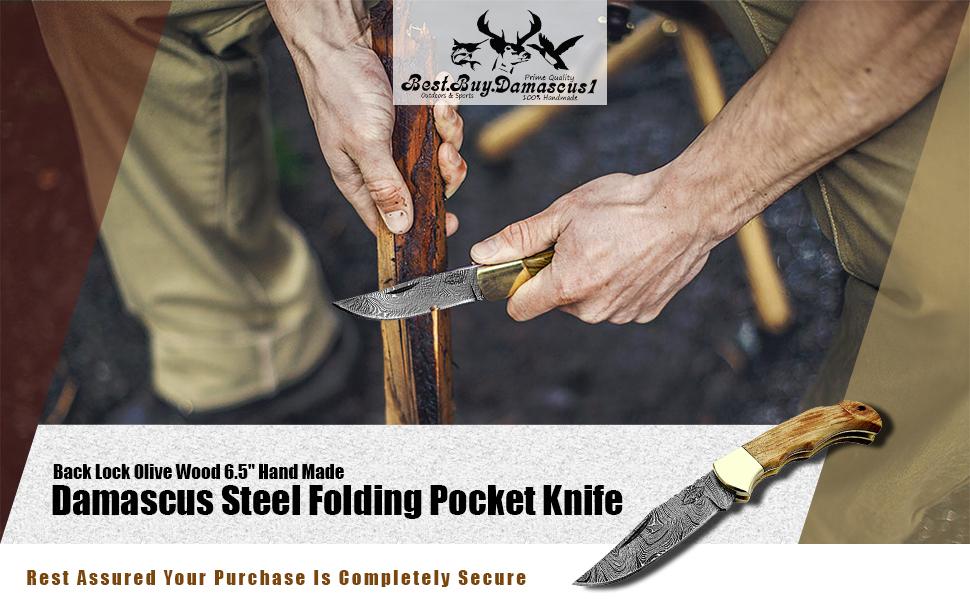 Pocket Knife Olive Wood 6.5''