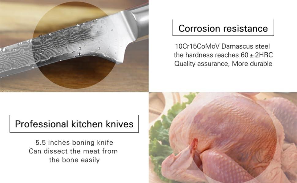 Boning chef knife