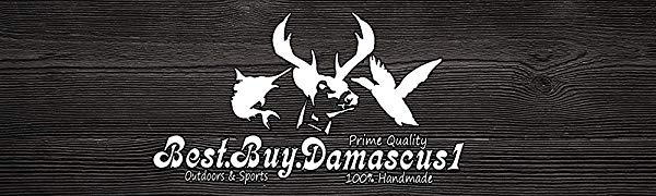 Camel Bone 6.5'' Damascus Steel knife