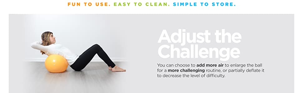 HUAhuako Yoga Pilates Massage Ball Peanut Shape Inflatable Thicken Gym Fitness Training Blue