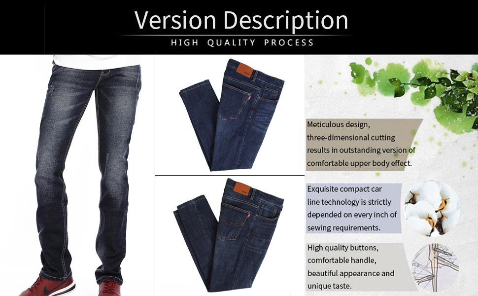 Amazon.com: IDORIC - Pantalones vaqueros para hombre con ...