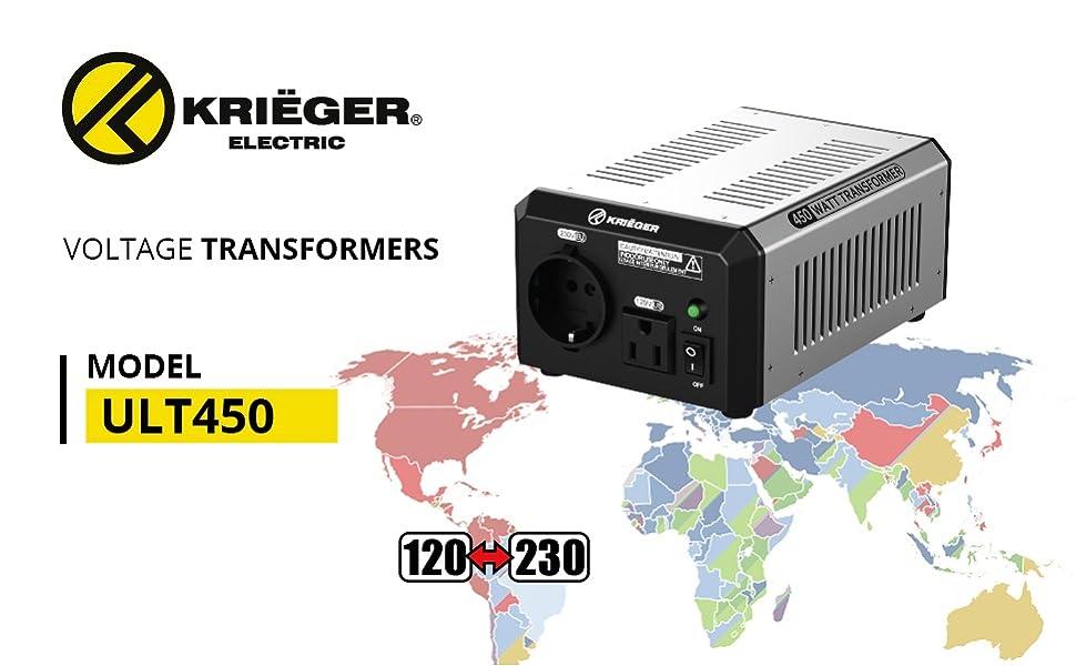 450 Watt Professional Series Step Up/Step Down Voltage Transformer (ULT450)