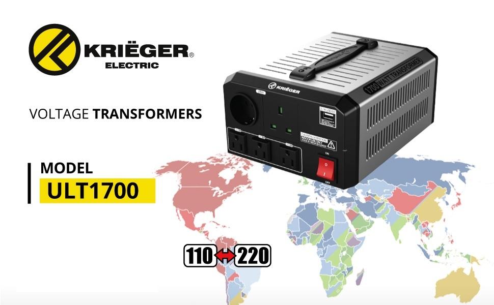 1700 Watt Professional Series Step Up/Step Down Voltage Transformer (ULT1700)