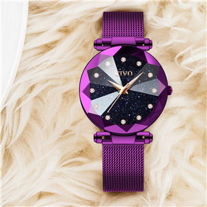 women watches ladies teenager girls stainless steel watch waterproof cheap wristwatch purple