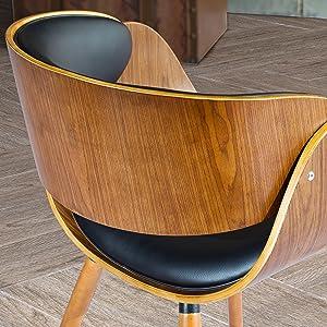 Amazon.com: Nogal Bent madera contrachapada Brazo Silla Con ...