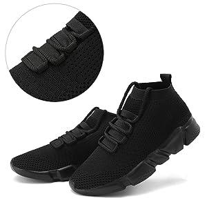 Mens Casual Athletic Sneakers Knit Running Shoes Tennis Shoe for Men Walking Baseball Jogging