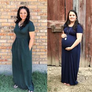 short sleeves maternity dresses for women