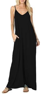 sleeveless maxi dresses with pocket