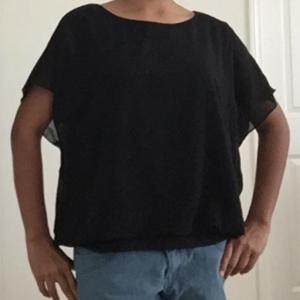 black chiffon blouses