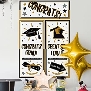 Graduation Backdrop Banner Party Decorations Supplies 2019 Extra Large Grad Congrats Photo Booth Wall Party Decor 69 68 Inches X 53 5 Inches