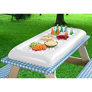 Amazoncom Inflatable Serving Bar Salad Ice Tray Food Drink - Inflatable picnic table