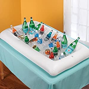 Amazon Com Inflatable Serving Bar Salad Ice Tray Food