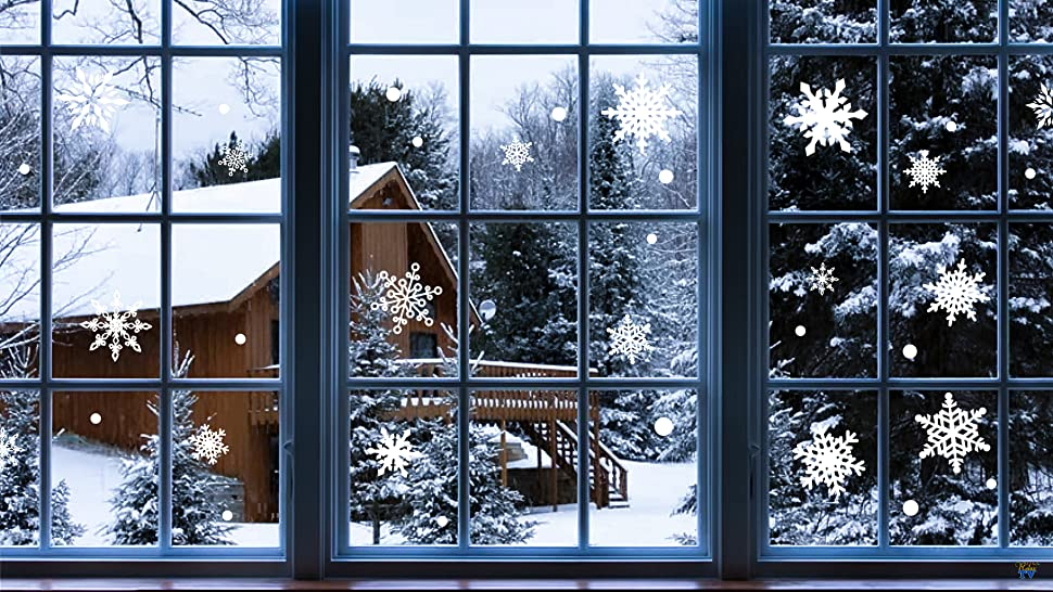 Whether youre hosting a winter wonderland party or want to decorate for the holiday season decorate your windows with our frosty and fun snowflake window