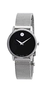 Movado Women's Museum Stainless Steel Watch with a Concave Dot Museum Dial