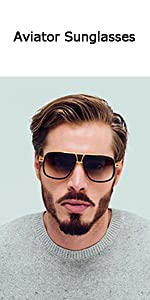fbbdbce4c73 Gobiger Aviator Sunglasses for Men 100% UV Protection Goggle Alloy ...