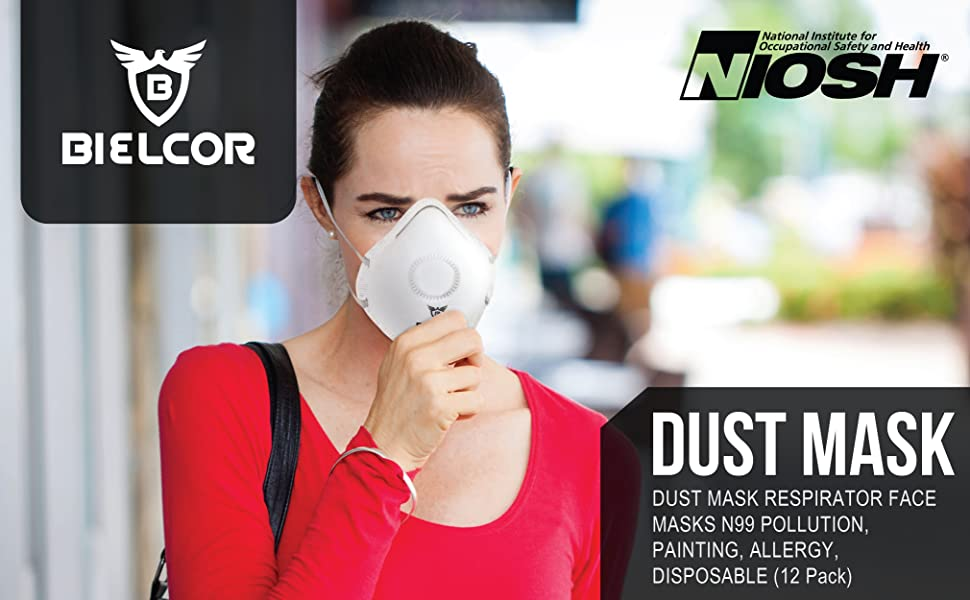 face mask dust respirator allergy masks breathing pollution horse disposable paint respirators n99