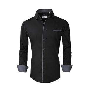 cotton stretch dress shirts for men
