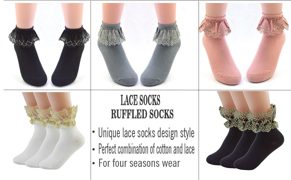 b05fcc6a1 VIVIKI. Lace Socks. ruffles socks women