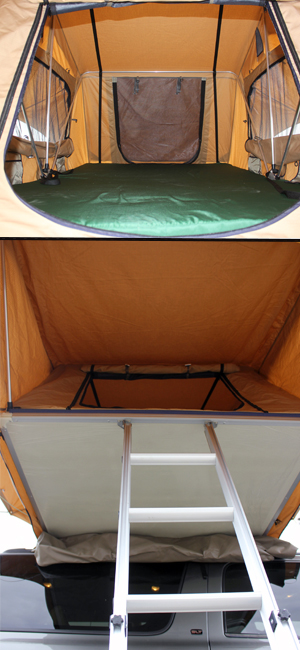 tuff stuff overland ranger roof top tent interior