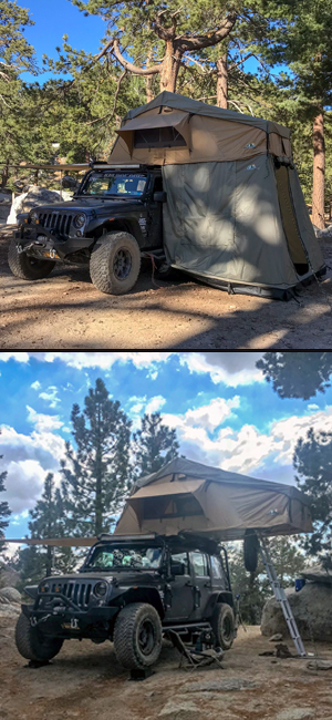 tuff stuff ranger rooftop tent with & without annex room