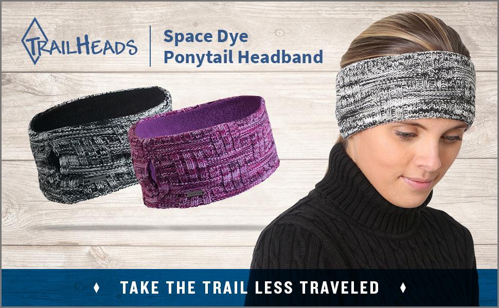 light purple TrailHeads Women/'s Space Dye Knit Ponytail Headband