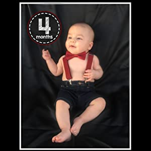 kids wine red suspenders bow tie