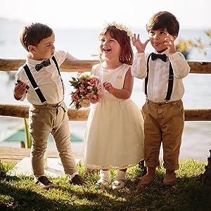 wedding formal kids suspender