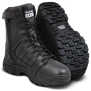 """Metro 9"""" side zip waterproof leather black"""