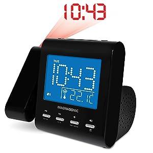 clock, alarm clock, projector