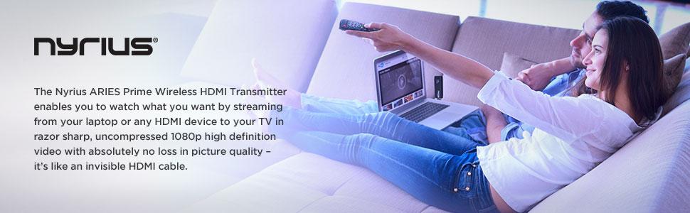 Amazon.com: Nyrius ARIES Prime Wireless Video HDMI Transmitter ...