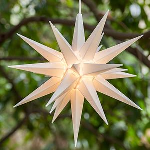 white moravian star light