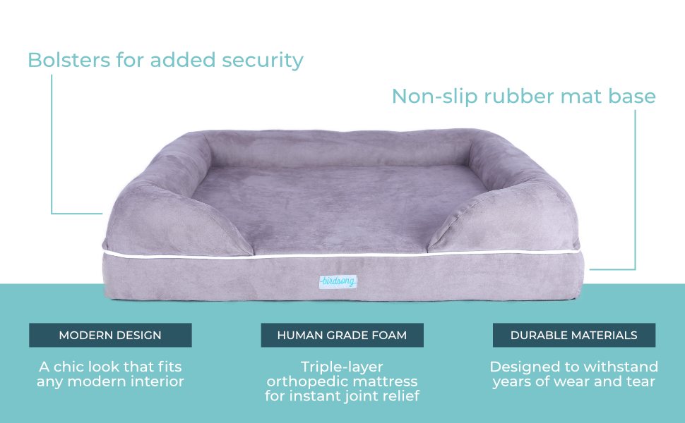 triple-layer waterproof support bed memory foam support large orthopedic comfort washable dog soft