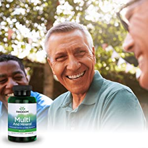 Swanson Multi and Mineral Daily Multivitamin Multimineral Men's Women's Health Supplement