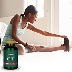 Real Food Multi Womens Daily Multivitamin Multimineral Womens Supplement