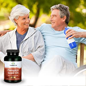 Swanson Health Pumpkin Seed Oil Brain Cardiovascular Support Bioavailable EFAs Supplement