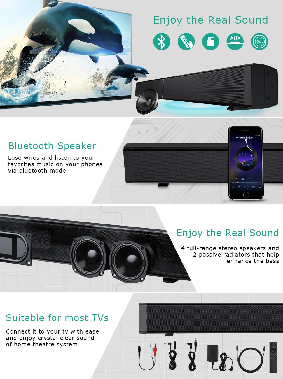 Soundbar Bluetooth Fiber Optics Tv Optical Audio Wall Quatro 2 Super Loud 20 Usb Speaker By Sonicgear Red Product Description