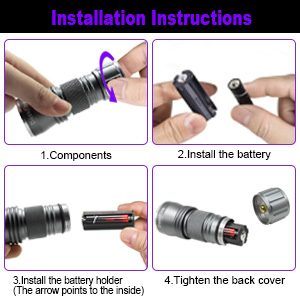 ultraviolet blacklight flashlight