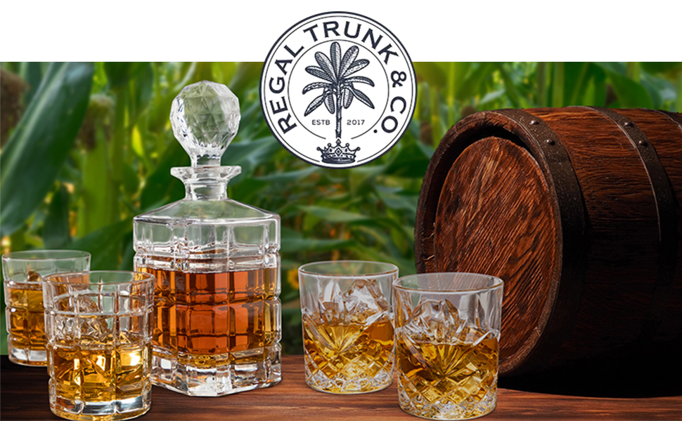 Gorgeous, Bold Decanter and Whiskey Glasses, Premium Craftsmanship, Ergonomic Luxurious Feel