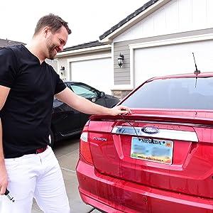 Car Backup Camera, Rear View Camera HD 12 LEDs Night Vision Reverse Camera  170° Viewing Angle, License Plate Back up Car Camera/Bracket Mount