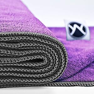 A close-up of a folded towel.