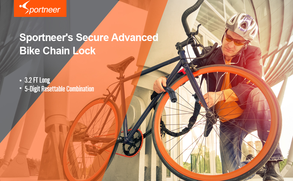 Lock Bike Cable Bicycle Security Anti Theft Heavy Duty 5 Digit Combination Chain
