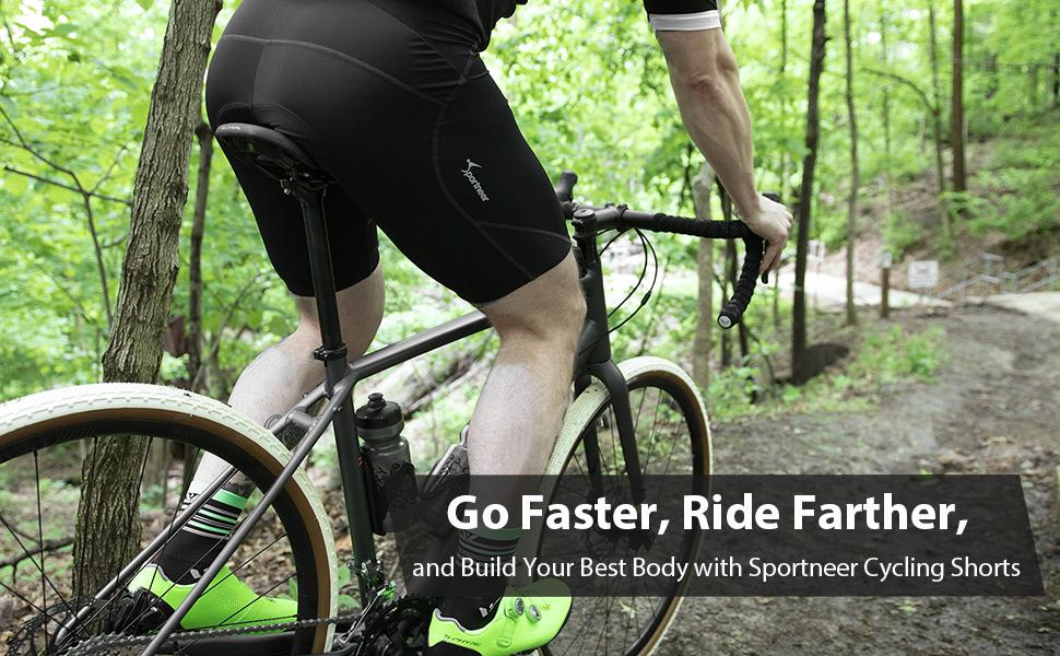 Mens /& Big Mens Padded Spandex Biking Cycling Tights for Bicycling   Plus sizes