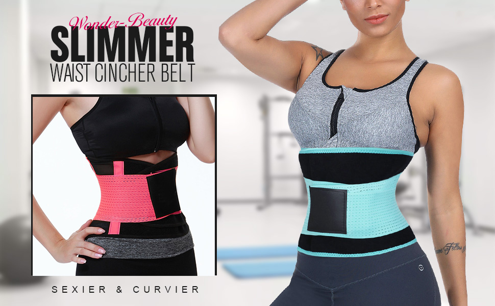 72082843ee Wonder-Beauty Women s Waist Trainer Belt Sport Girdle Shaperwear ...