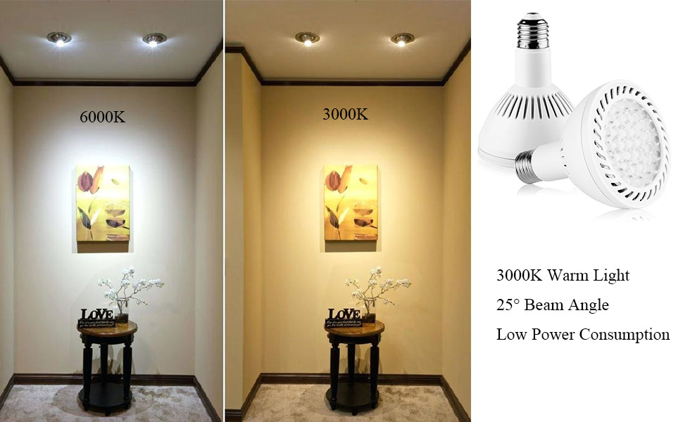 par30 led spot light bulbs e27 medium base 3000k 36wat low power