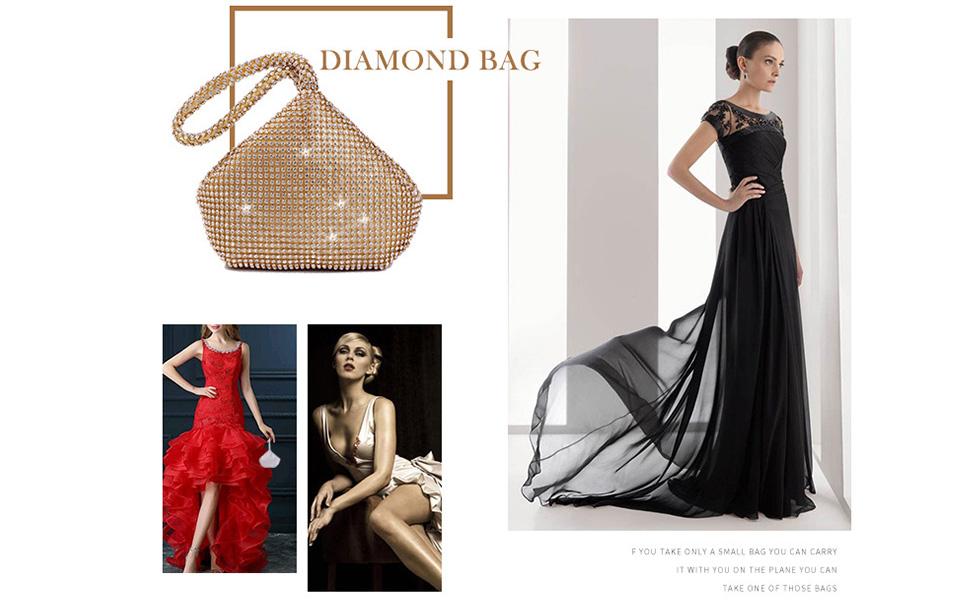 Evening bag handbags for women small shoulder bag women's evening handbags Party Wedding Engagement