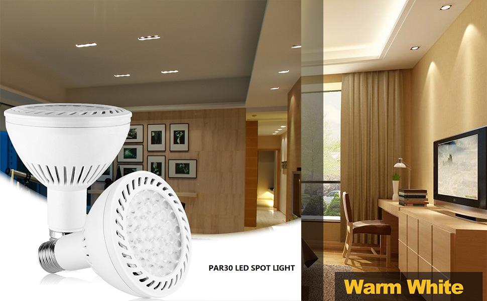 par 30 led bulbs spot light bulbs e27 base 3000k warm light