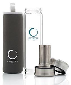 Amazon.com: Pure Zen vaso de té con infusor sin BPA ...