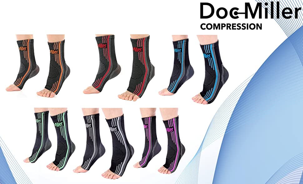 12eb7c5174 Doc Miller Ankle Compression Sleeves are designed to increase blood flow,  reduce swelling and promote pain relief. With these sleeves you will  experience ...