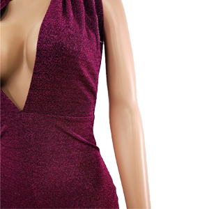 da3691296ec0 Amazon.com  GUOLEZEEV Women Backless Lace Up Halter Jumpsuit Sexy ...