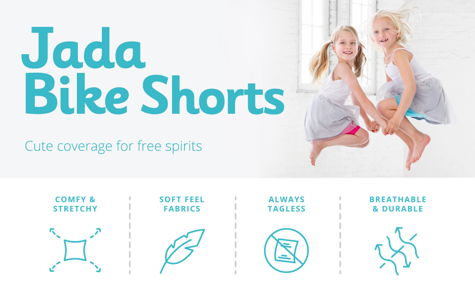 Lucky /& Me 3 Pack Jada Girls Bike Shorts and Dance Shorts | Tagless | Super Soft Cotton with Lace Trim | Good Coverage Black